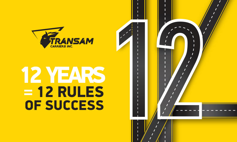 Transam Carriers: 12 Years = 12 Rules of Success