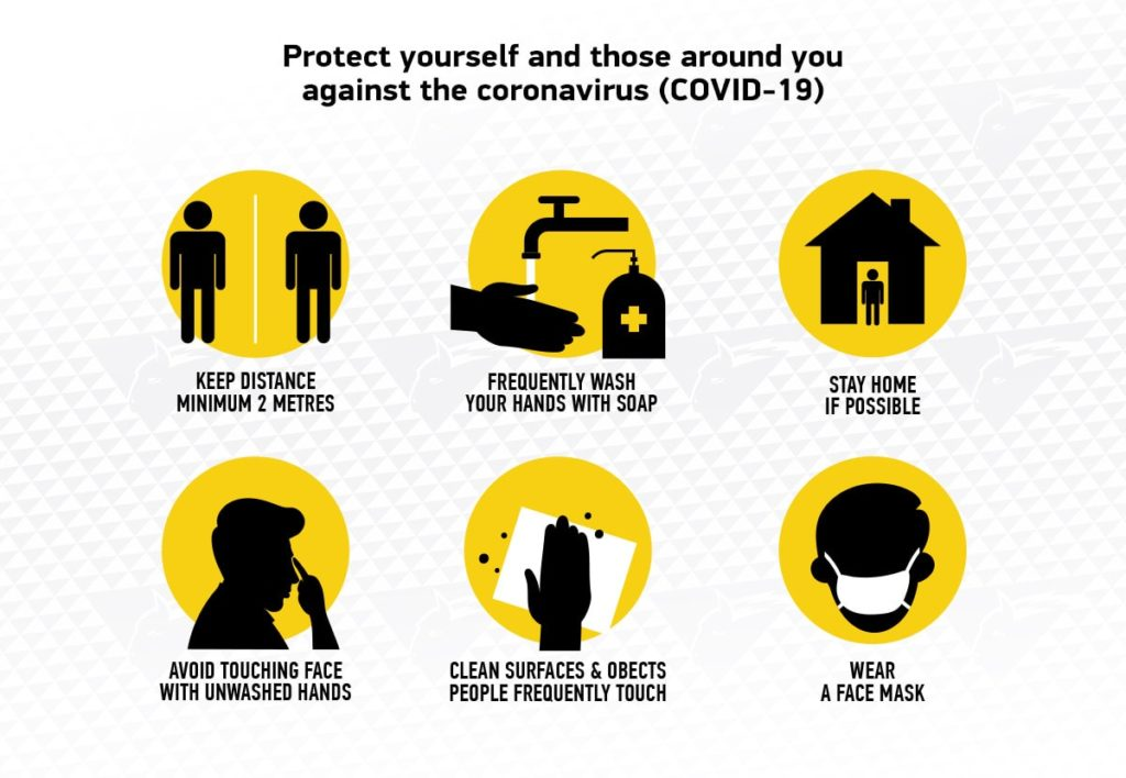 Protect yourself and those around you against COVID-19