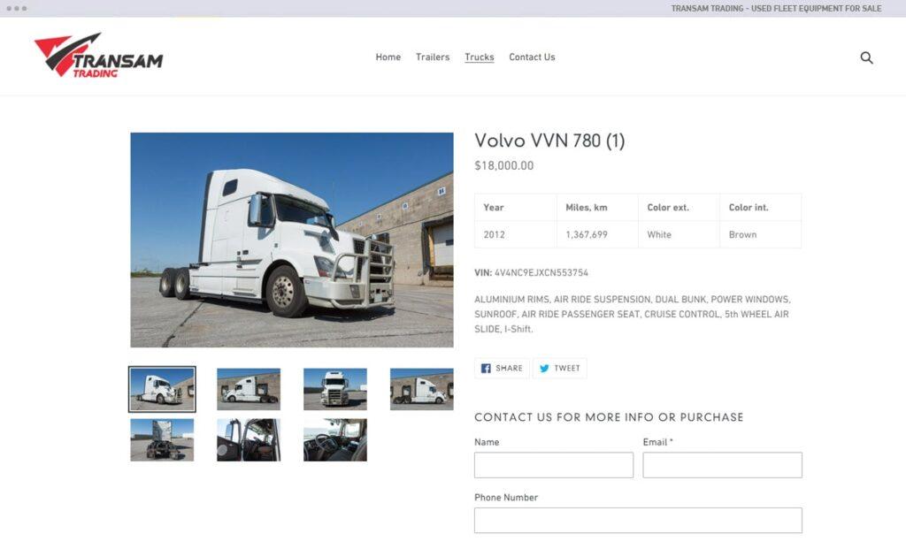 Transam Trading - used fleet equipment