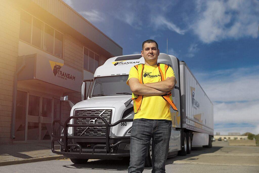 Transam Carriers' truck driver